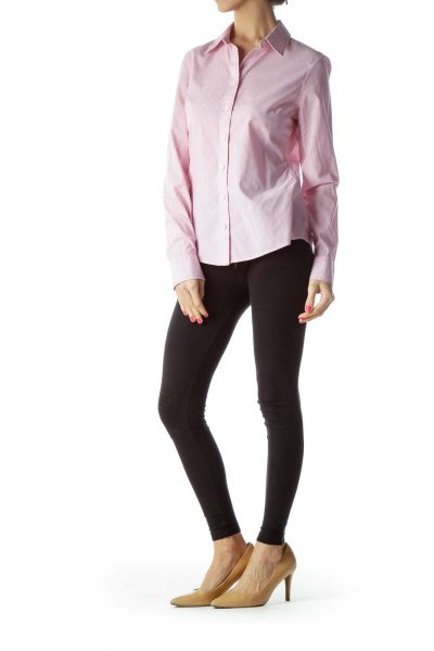 Pink Non-Iron Striped Shirt