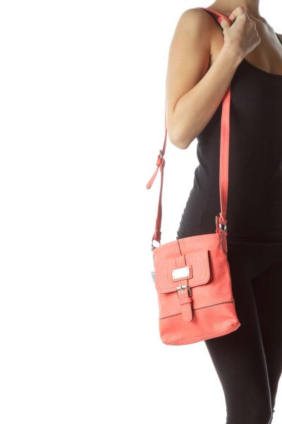 Pink Buckle Detailed Crossbody Bag
