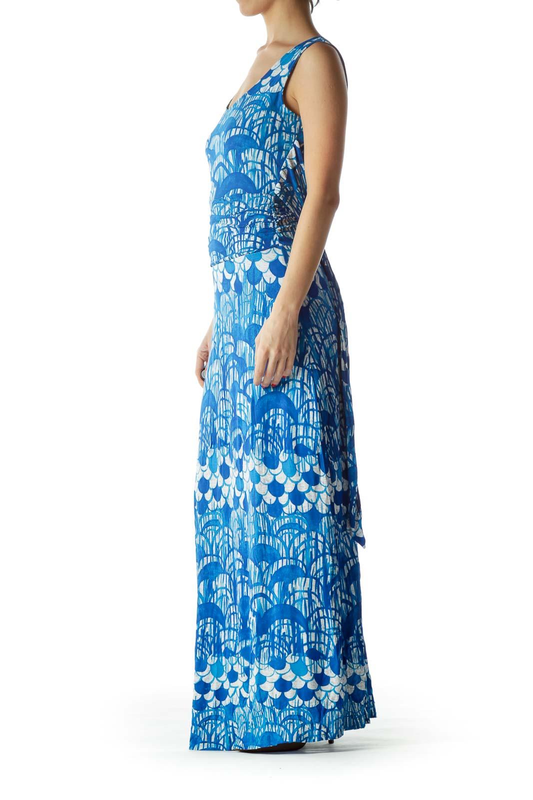 a2b265c109 Shop Blue Print Maxi Dress clothing and handbags at SilkRoll. Trade ...