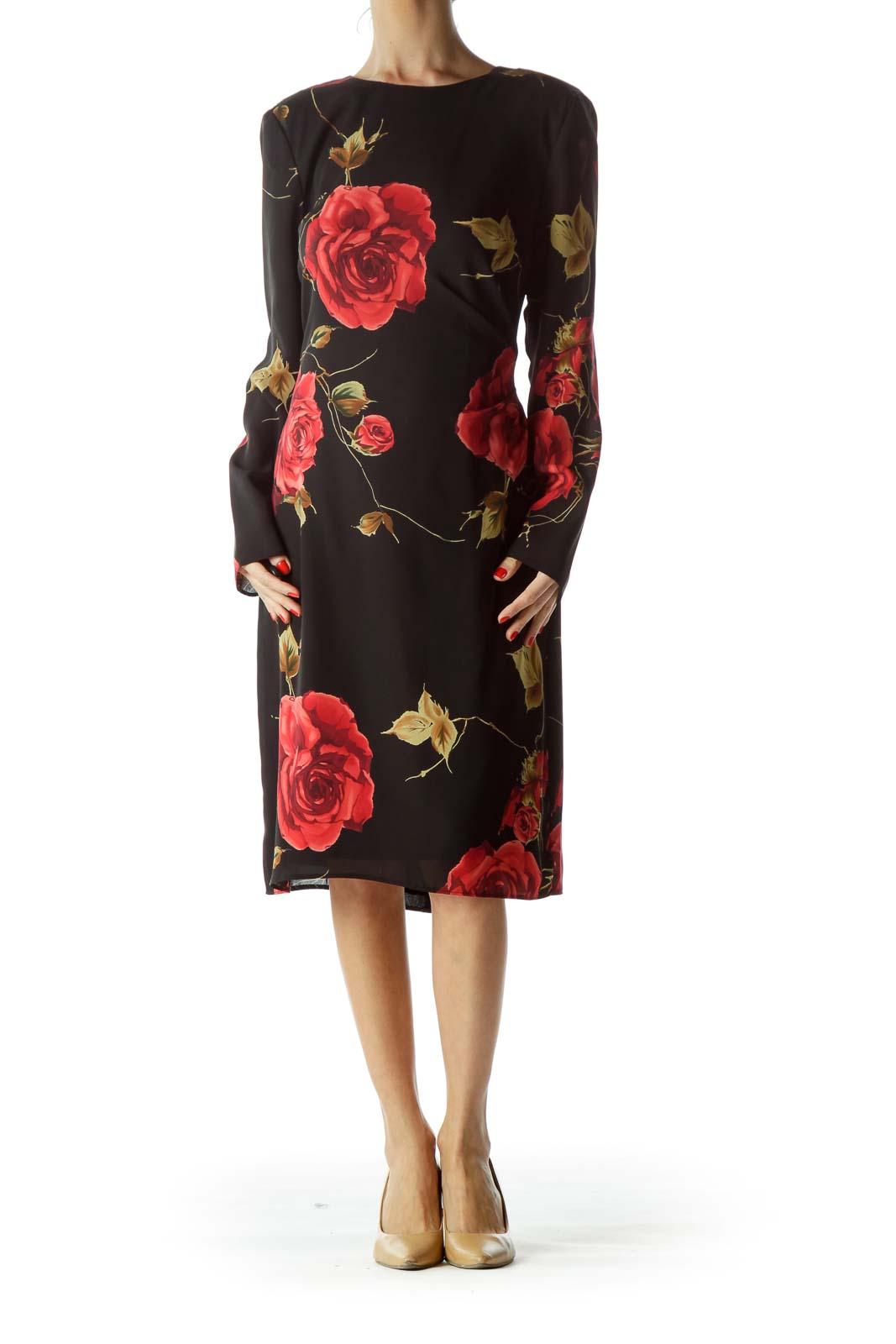 Black Rose Floral Dress