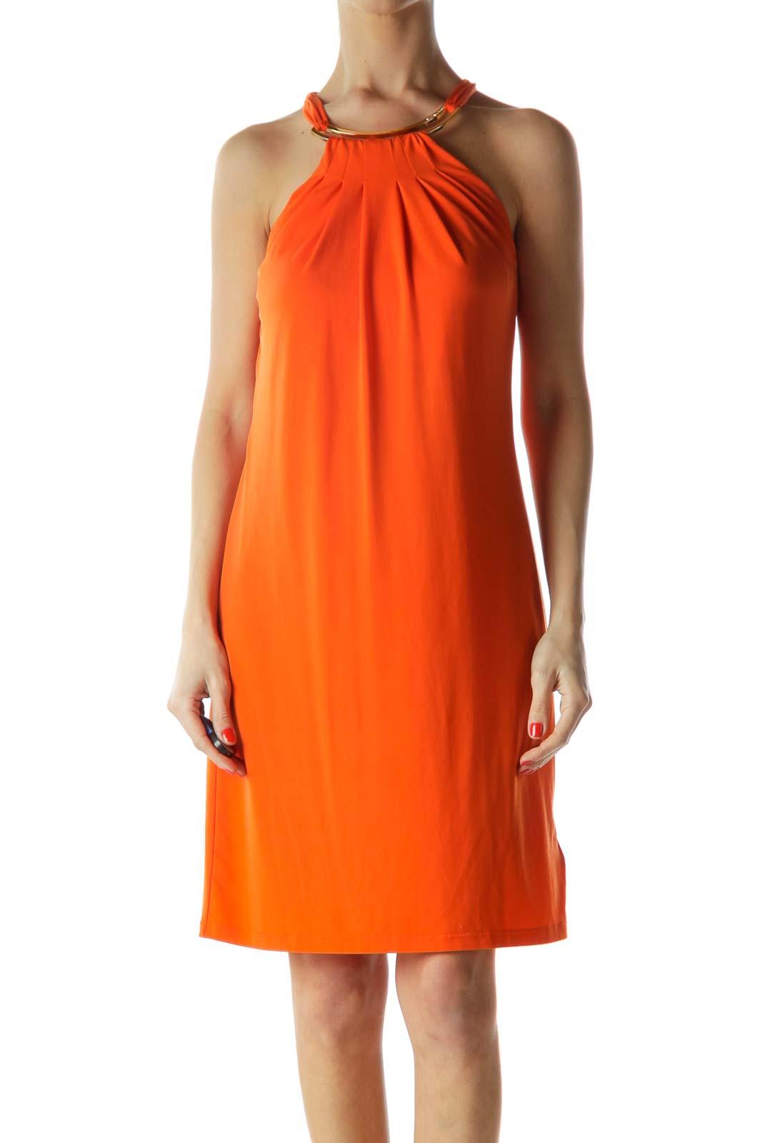 91a66796b18 Shop Orange Metal Trim Tent Dress clothing and handbags at SilkRoll ...