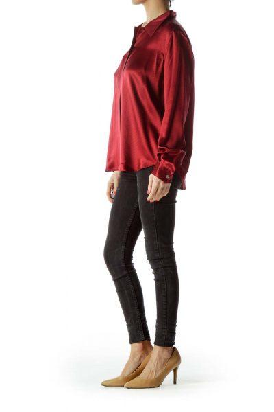 727962e568cb96 Red Printed Silk Shirt Red Printed Silk Shirt